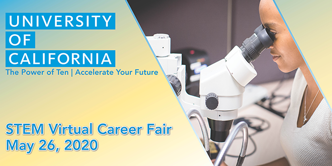 UC Wide STEM Virtual Career Fair Banner