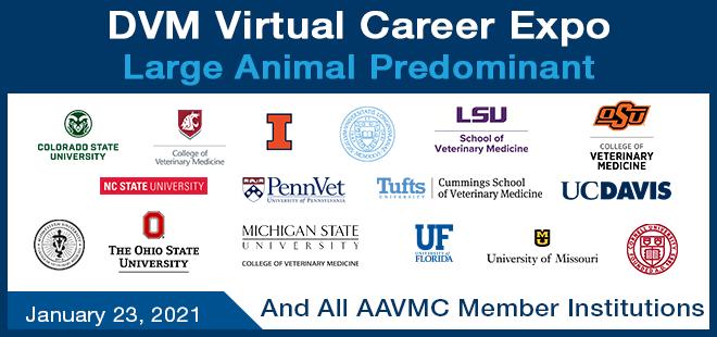 DVM Large Animal Focused Virtual Career Expo Banner