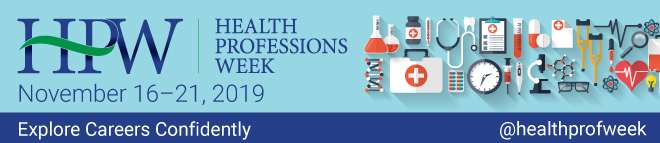 Health Professions Week Virtual Fair Banner