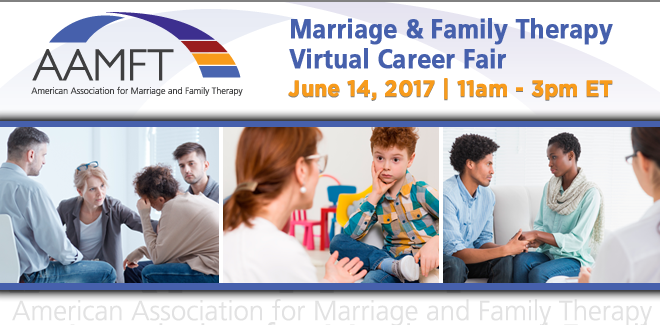 Marriage & Family Therapy Virtual Career Fair Hosted by AAMFT Banner