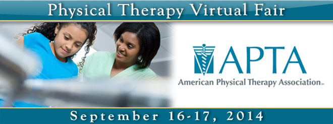 Physical Therapy Virtual Fair - Sept. 2014 Banner