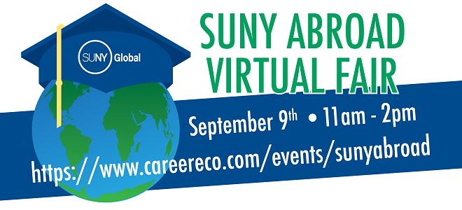 SUNY Study Abroad Virtual Fair Banner
