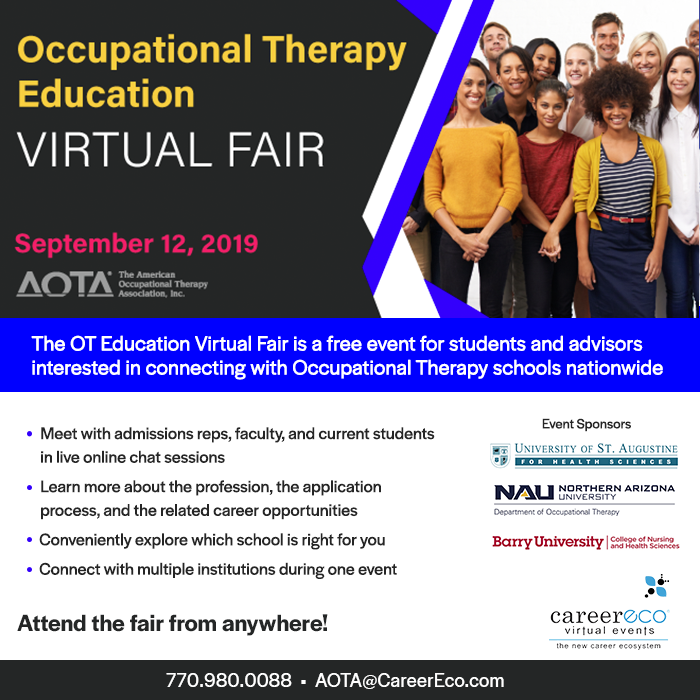 Occupational Therapy Virtual Fair - September 12, 2019