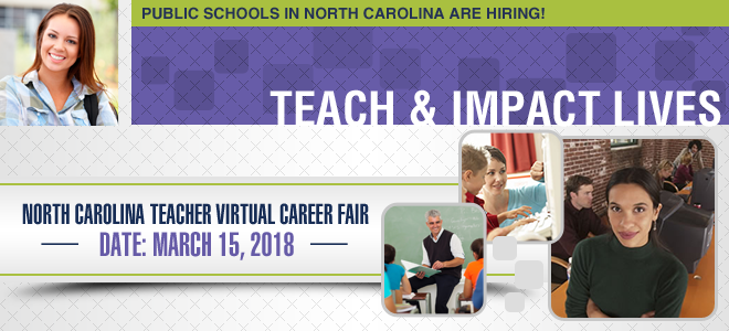 North Carolina Teacher Virtual Career Fair Banner