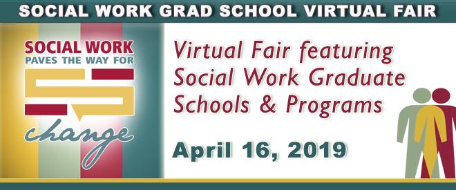 Social Work Grad School Virtual Fair Banner
