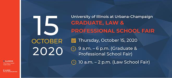 University of Illinois Graduate, Law & Professional School Fair Banner