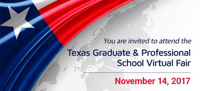 Texas Graduate and Professional School Virtual Fair Banner