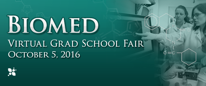 Biomed Virtual Grad School Fair Banner