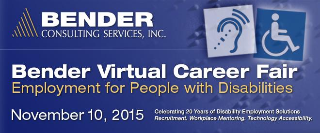 Bender Virtual Career Fair - November 2015 Banner