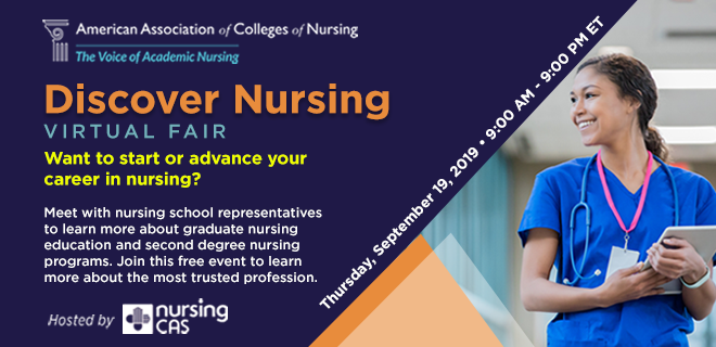 Discover Nursing Virtual Fair Banner