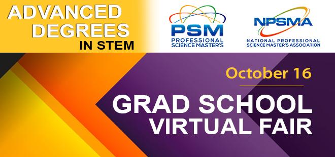 Professional Science Master's Virtual Fair Banner