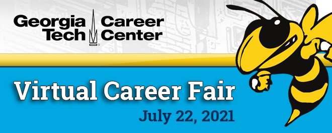 Georgia Tech All Majors Virtual Career Fair – Summer 2021  Banner