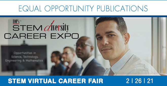 EOPs STEM Diversity Virtual Career Fair Banner