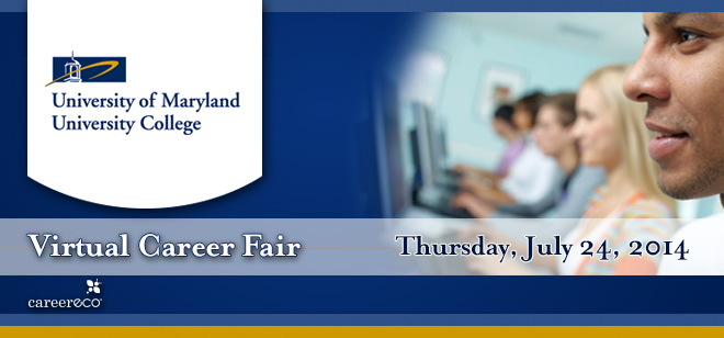 University of Maryland University College Virtual Career Fair Banner