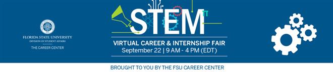 Florida State University STEM Career and Internship Fair Banner