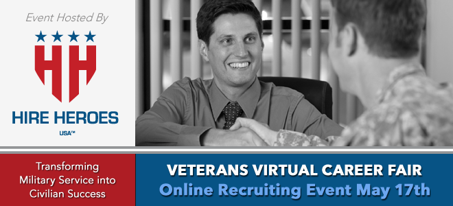 Hire Heroes USA Veterans Virtual Career Fair Banner