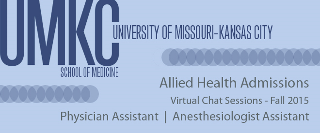 UMKC Allied Health Chat Sessions Banner