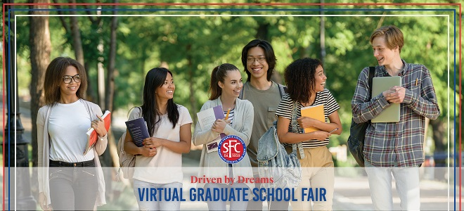 St. Francis College Driven by Dreams Virtual Graduate School Fair  Banner