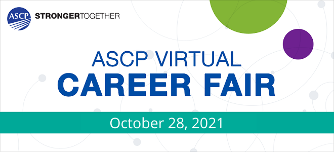 ASCP Virtual Career Fair  Banner
