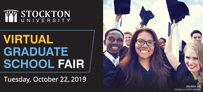 Stockton University Virtual Grad School Fair Banner