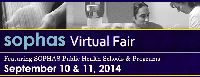 SOPHAS Virtual Fair - Sept. 2014 Banner