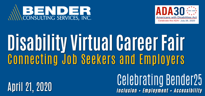 Bender Virtual Career Fair Banner