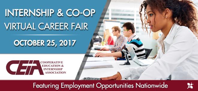 Internship & Co-op Virtual Career Fair Banner
