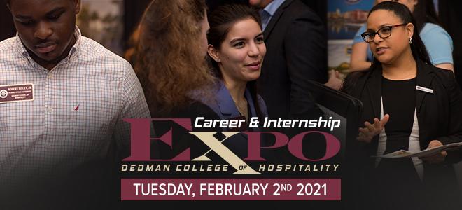 Florida State University Dedman College of Hospitality Career & Internship Expo Banner