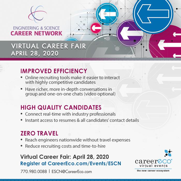 Engineering & Science Career Network Online Career Fair - April 28, 2020