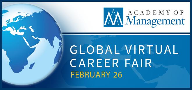 Academy of Management Virtual Career Fair Banner