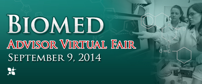 Biomed STEM Advisor Virtual Fair - September 9, 2014 Banner