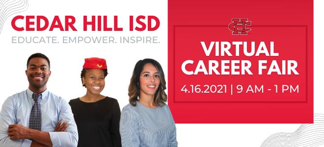 Cedar Hill ISD Teacher Virtual Career Fair Banner