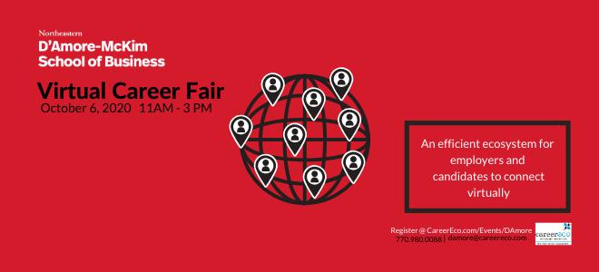 D'Amore-McKim School of Business Virtual Career Fair Banner