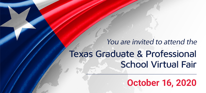 Texas Graduate and Professional School Virtual Fair - Hosted by TxGAP Banner