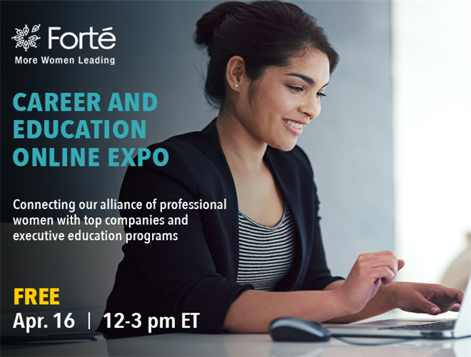 Forté Career and Education Online Expo Banner