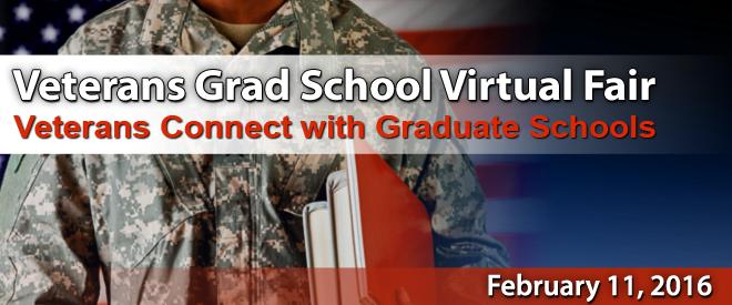 Grad School Virtual Fair for Veterans - Featuring Yellow Ribbon Grad Programs Banner