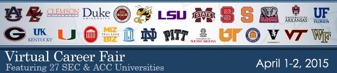 SEC & ACC Virtual Career Fair Banner
