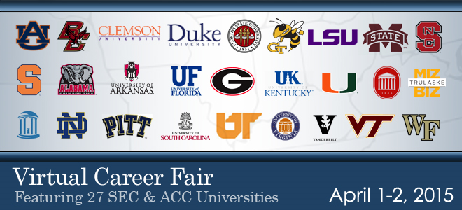 SEC & ACC Virtual Career Fair - 2015 Banner