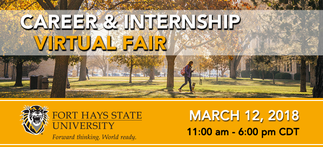 Fort Hays State University Career & Internship Virtual Fair Banner