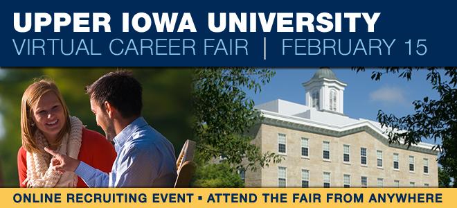 Upper Iowa University Virtual Career Fair Banner