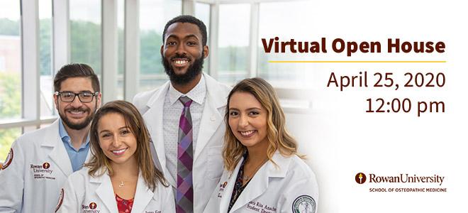 Rowan University School of Osteopathic Medicine Virtual Open House Banner