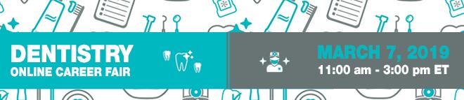 Dentistry Online Career Fair Banner