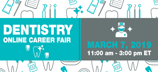 Dentistry Online Career Fair Banner