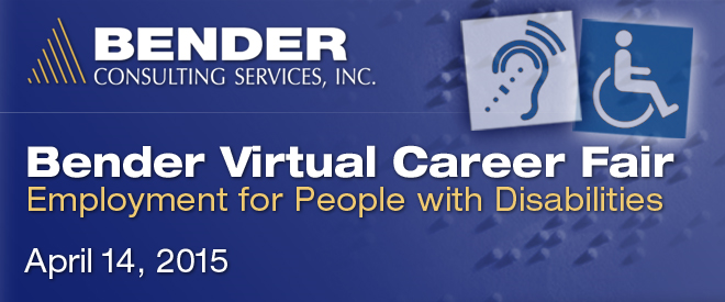Bender Virtual Career Fair - April 2015 Banner