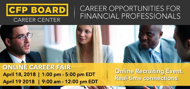 CFP Board Online Career Fair Banner