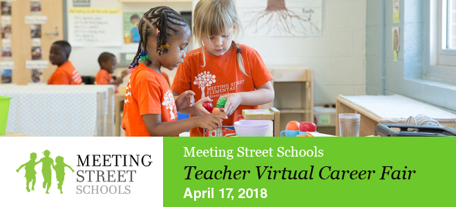 Meeting Street Schools Teacher Virtual Career Fair Banner