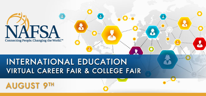 NAFSA International Education Virtual Career Fair & Grad School Fair Banner