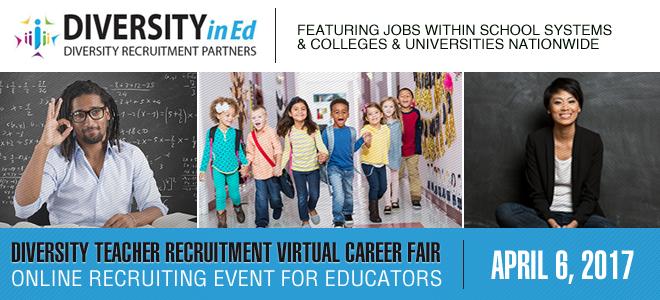 Diversity Teacher Recruitment Virtual Career Fair (Hosted by Diversity in Ed) Banner