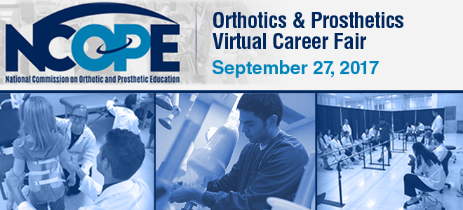 Orthotics & Prosthetics Virtual Career Fair Banner