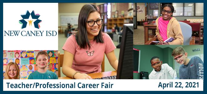 New Caney ISD Teacher/Professional Virtual Career Fair Banner